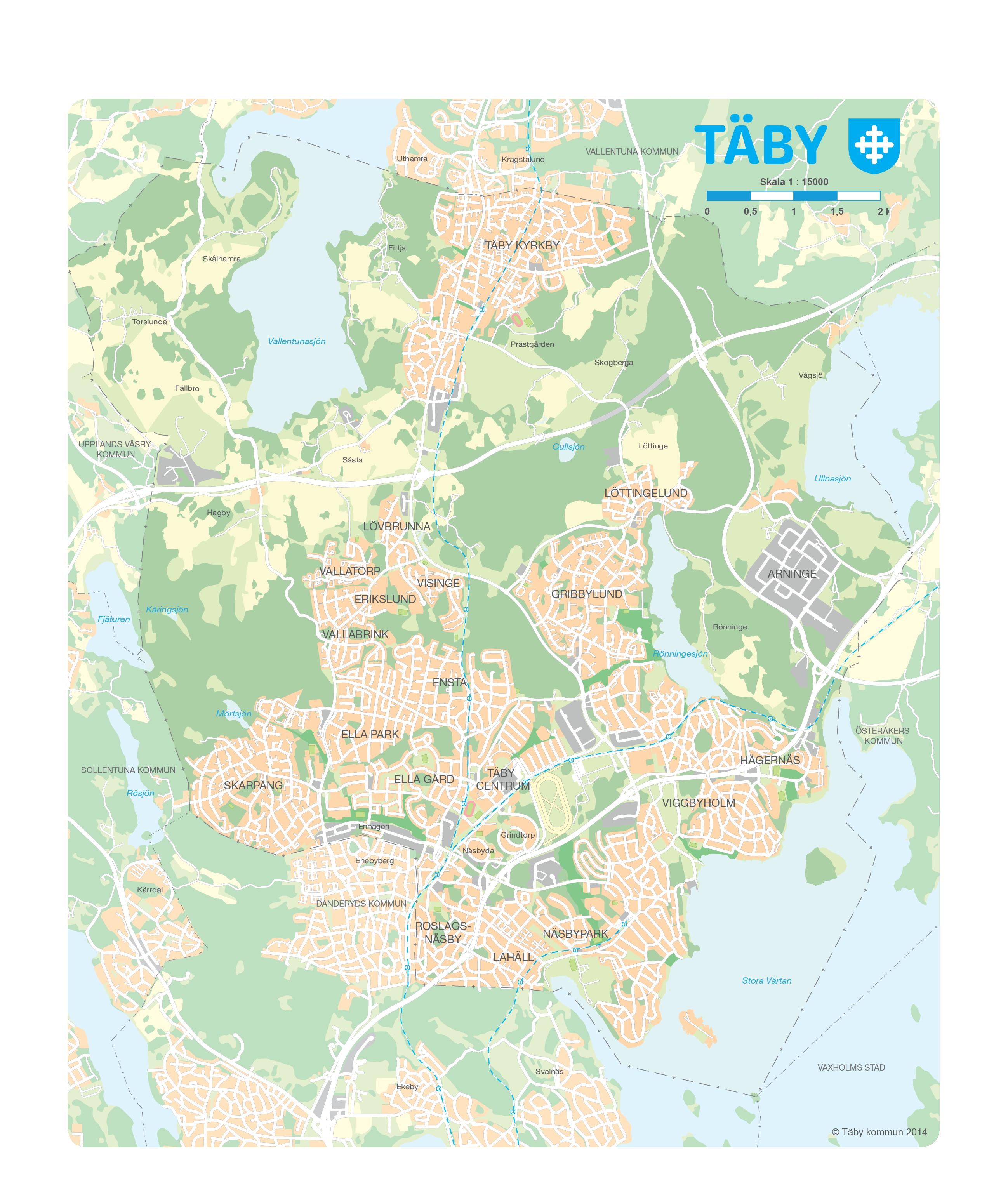 karta täby Kartor och lantmäteri   Täby kommun karta täby